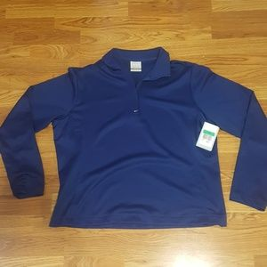 Nike Golf Dri-Fit 1/4 zip pullover, royal blue XL